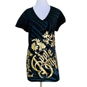 Apple Bottoms gold graphic T-shirt size 2X